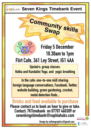 A4 flyer Community skills swap