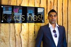 Rishi outside KuKus nest