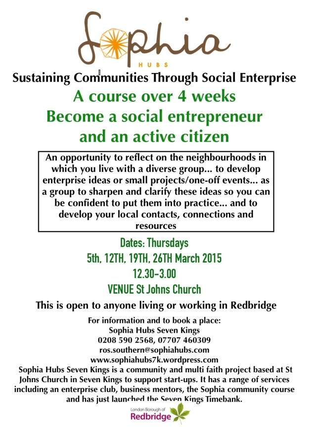 flyer A4 March 2015 Sophia course