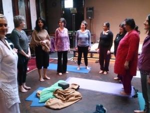yoga sams class standing