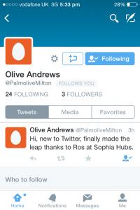 social media Olives tweet