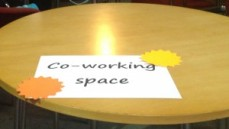 Co working space sign