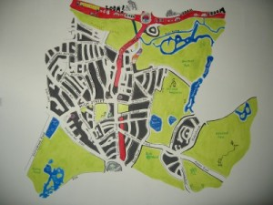 Hand drawn map