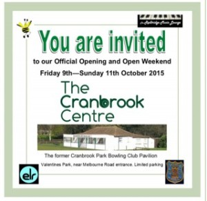 Cranbrook centre opening flyer
