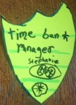 Timebank manager badge
