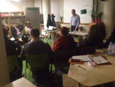 Albert Peters at Sophia Hubs entrepreneurs club at Enterprise Desk