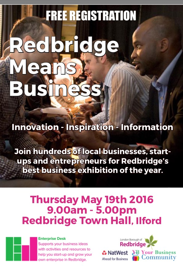 Redbridge Means business 2016 front page