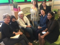 Fiona with others at Timebank trading event