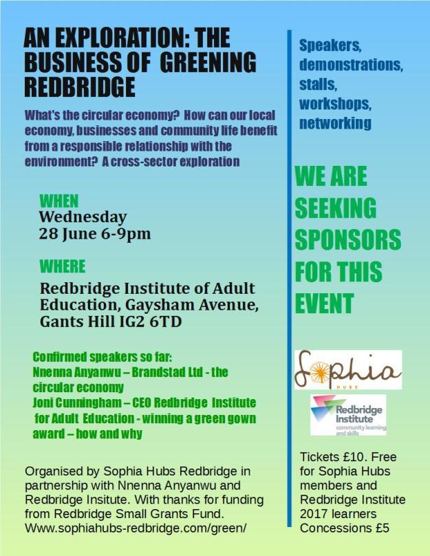 An Exploration - The business of greening Redbridge flyer final