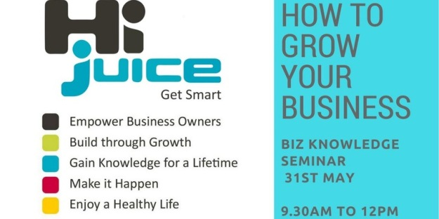 how to grow your business logo for hi juice