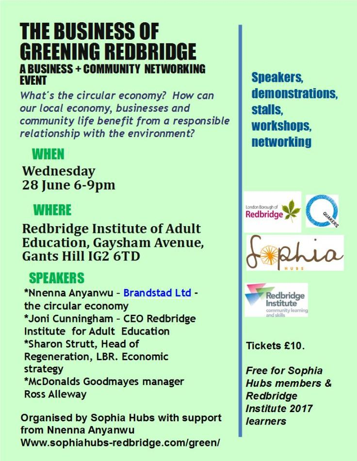The business of greening Redbridge- Networking event 28.6.17 final